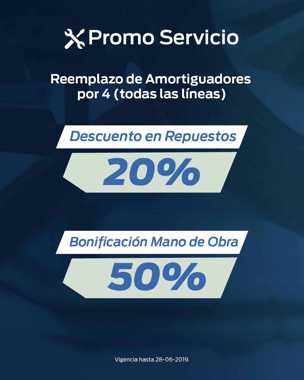 Promo Servicio Reemplazo de Amortiguadores (06/06/2019)